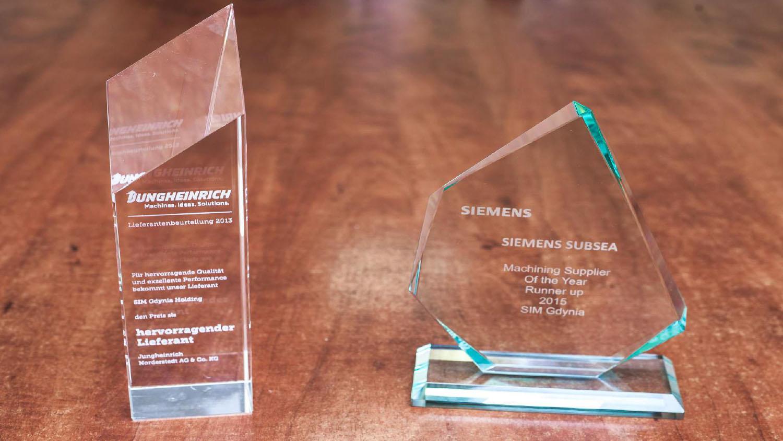 SIM Gdynia Nagrody dla najlepszego dostawcy roku do Siemens i Jungheinrich