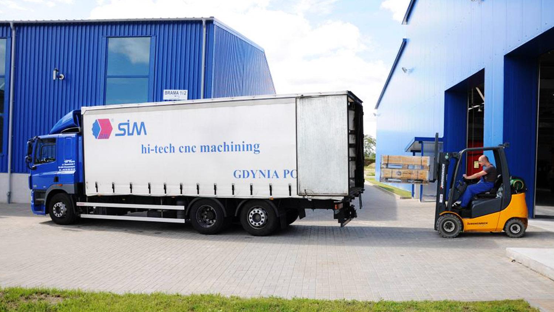 SIM Gdynia własny transport, sprawna logistyka