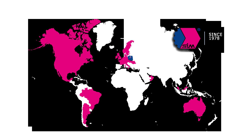 SIM Gdynia Klienci na większości kontynentów. Brak barier – wyznacznikiem wspólny biznes i partnerstwo.